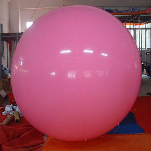 8 Foot Tall Solid Pink Round Balloon